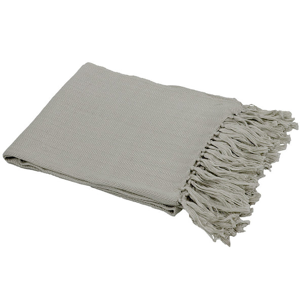 Neve Bamboo Throw Rug Oyster