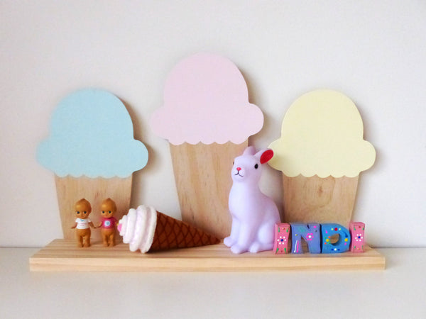Ice Cream Shelf - Mint, Pink & Lemon