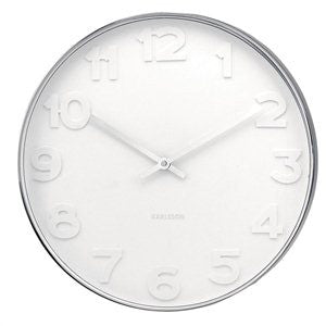 Wall Clock Mr. White Numbers