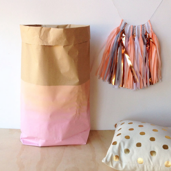 Peachy Keen Paper Sack by O + Mighty