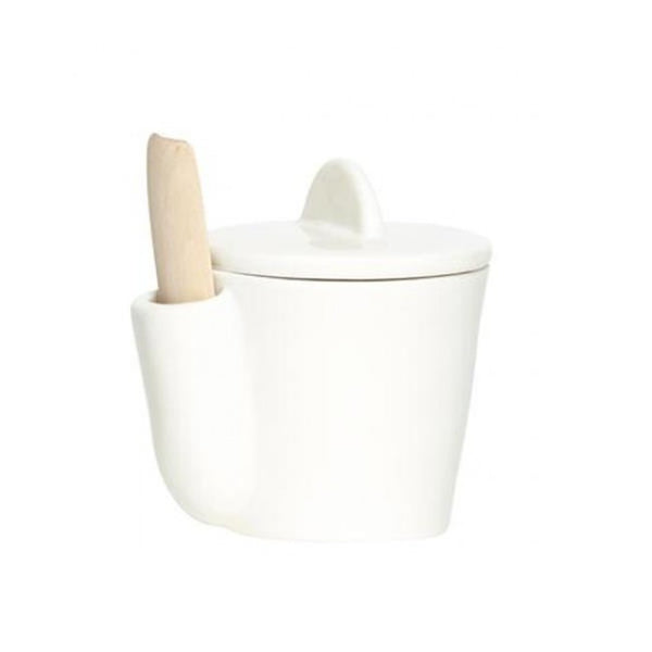 Porcelain Canister with Scoop