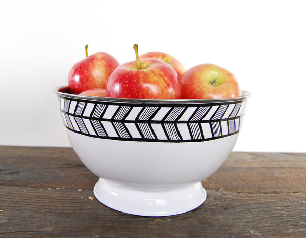 Geometri Bowl White