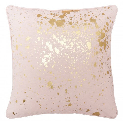 Splatter Cushion - Pink and Gold