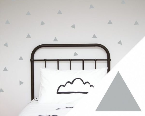 Wall Decals Triangles in Yellow, Grey or Black
