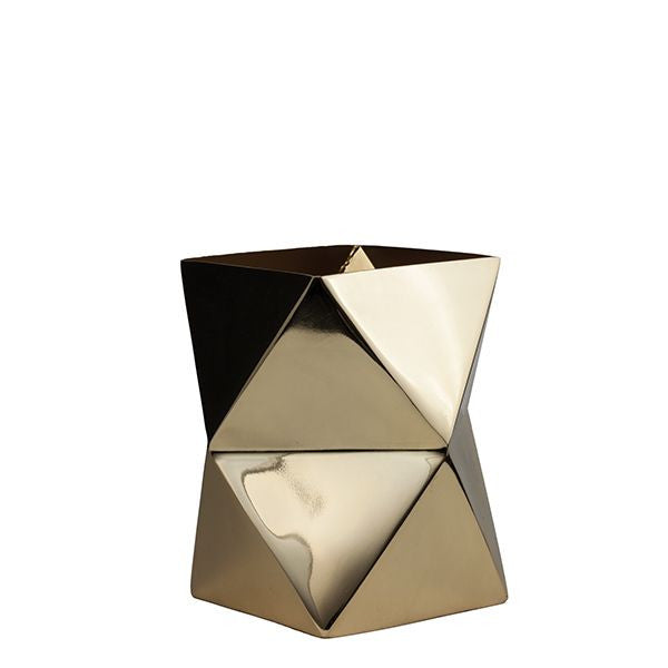 Metallic Geometric Vase Small