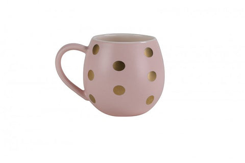Mini Hug Me Mug Pink with Gold Dots
