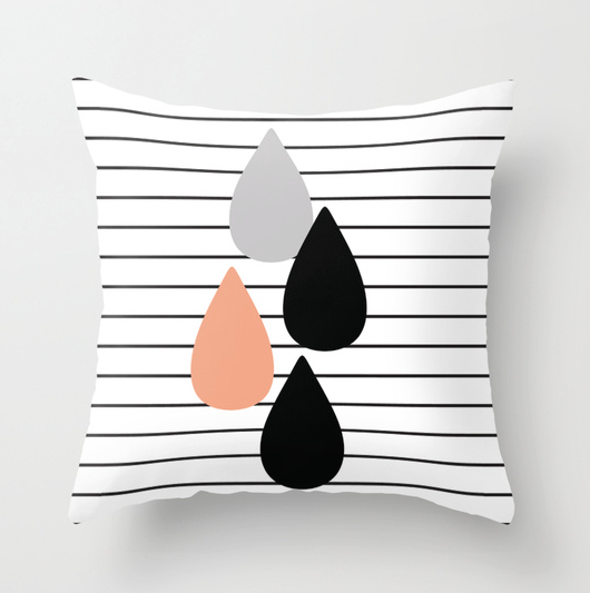 Stripes and Drops Cushion