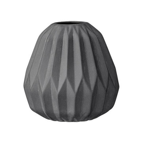 Bloomingville Fluted Vase Black