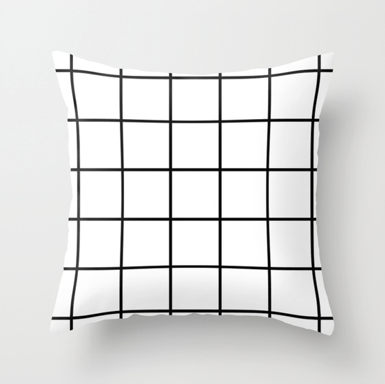 White Grid Cushion