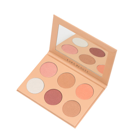 u KARA Beauty Professional Makeup Palette HL08 - 6 color Glowdust