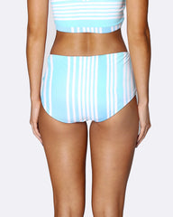 Lace Up Mid Brief Bikini Bottom - Tropical Punch