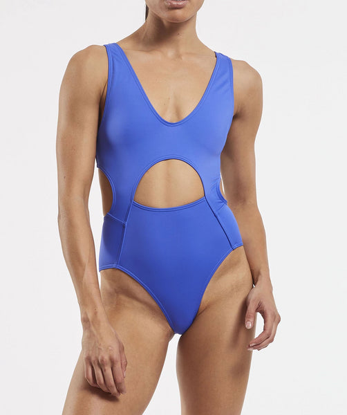'87 Tank One Piece Swimsuit in Blue Crush