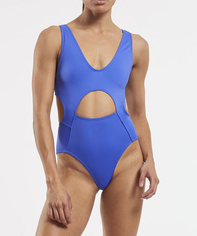eco friendly cut out one piece swimsuit