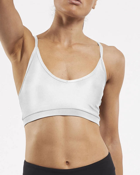 Yoga Crop Bra Top White