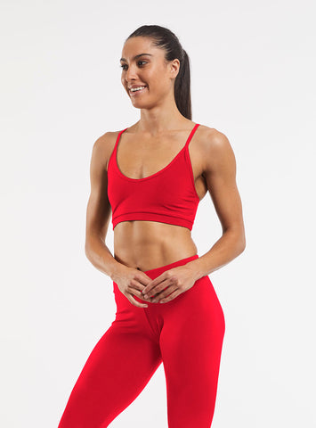 Yoga Crop Bra Top Red