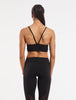 Yoga Crop Bra Top Black - Recycled Fabric