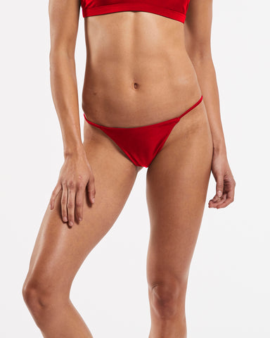 String Brazilian Brief in Riot-Red