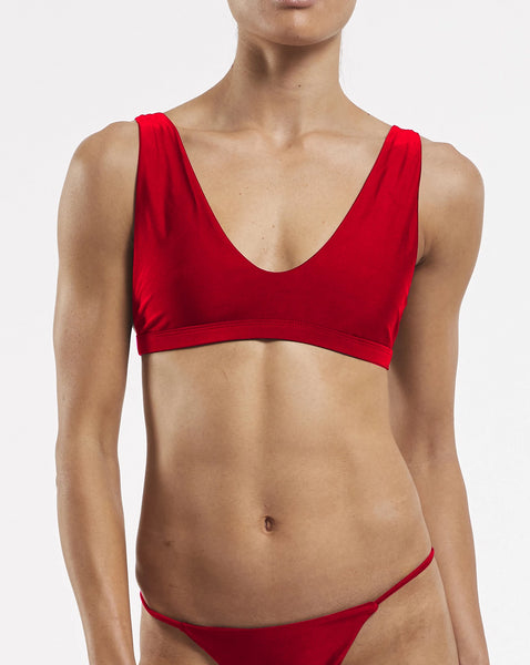 Apex Bra in Riot-Red