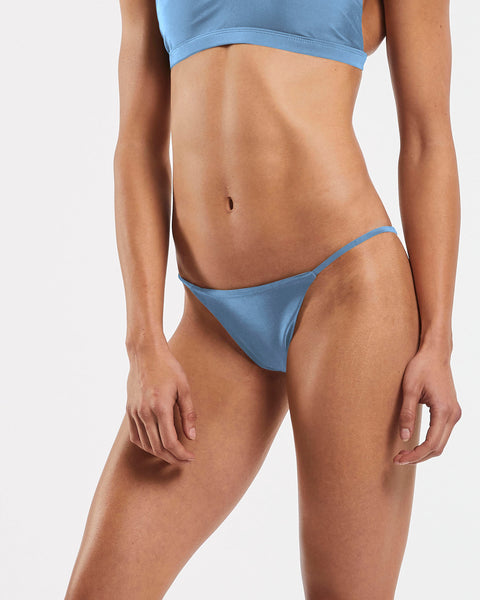String Brazilian Brief in  Glacier-Blue
