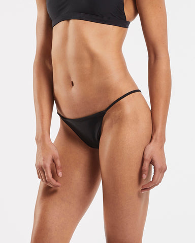 String Brazilian Brief in  Black
