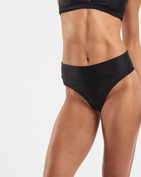80s Banded Brazilian Brief in  Black