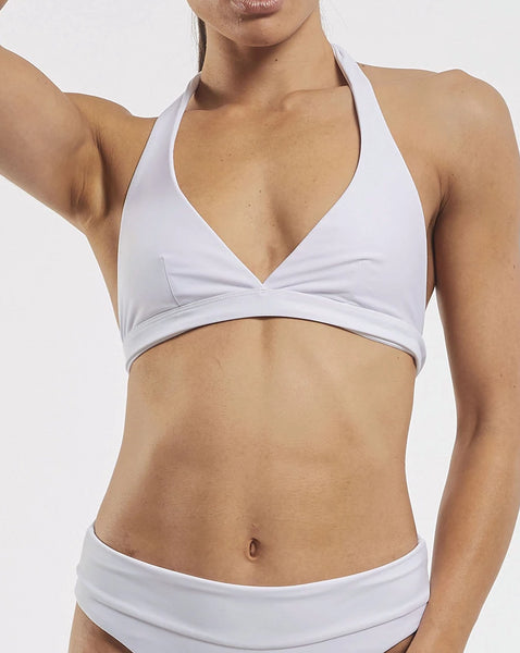 Ashleigh Wrap Halter Bra in  White