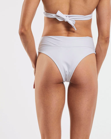 80s Banded Brazilian Brief in  White