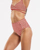 Cut Out High Waisted Brief in CheckMate