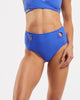 Cut Out High Waisted Brief in  Blue-Crush