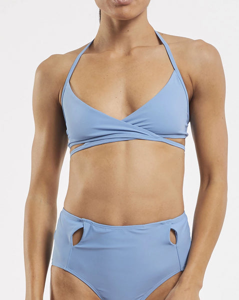 Criss Cross Bra in  Glacier-Blue