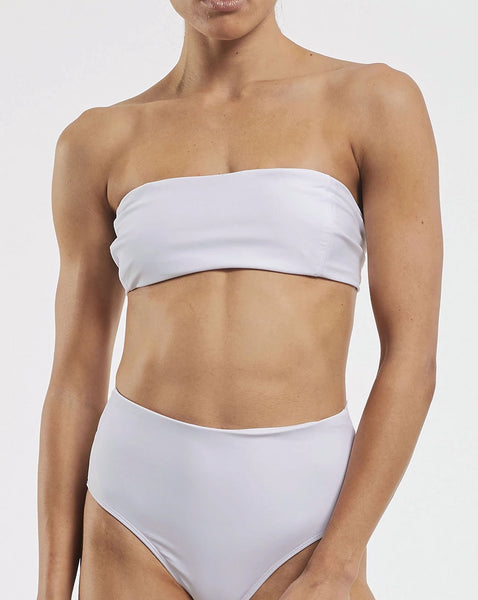 Dive Bandeau Bra in  White