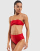Dive Bandeau Bra in Riot-Red