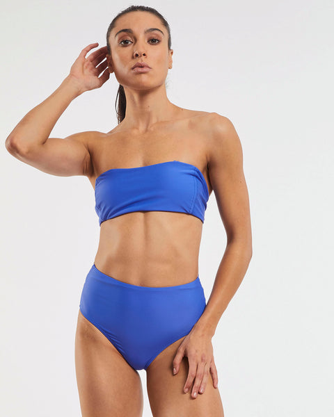 Dive Bandeau Bra in  Blue-Crush