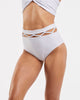 Lattice High Waisted Brief in  White