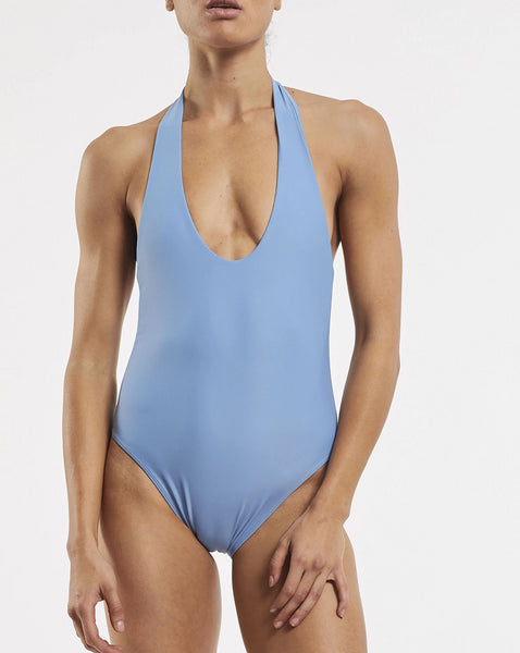 Soft Plunge One Piece Glacier Blue