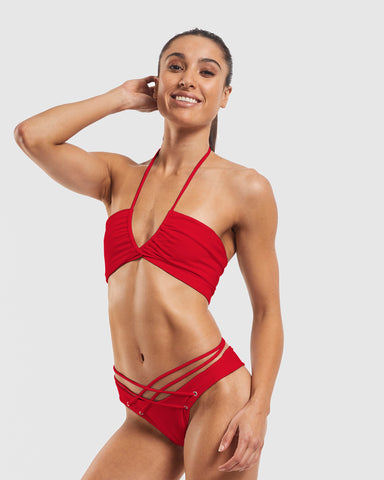 Wrap Scarf Bra - Riot Red