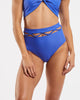 Lattice High Waisted Brief in  Blue-Crush