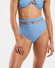 Lattice High Waisted Brief in  Glacier-Blue