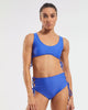 Side Tie Crop in  Blue-Crush