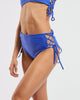 Side Tie High Waisted Brief in  Blue-Crush