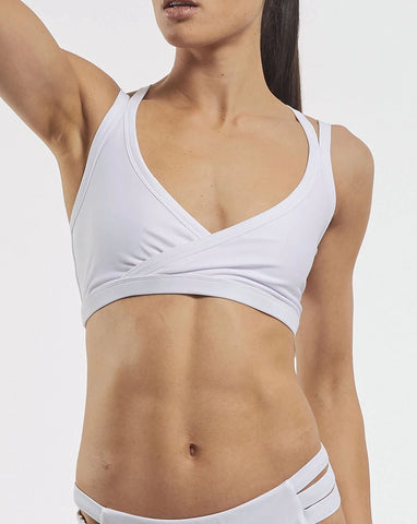 Studio Sports Crop - White