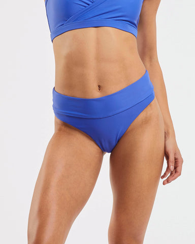 80s Banded Brazilian Brief in  Blue-Crush