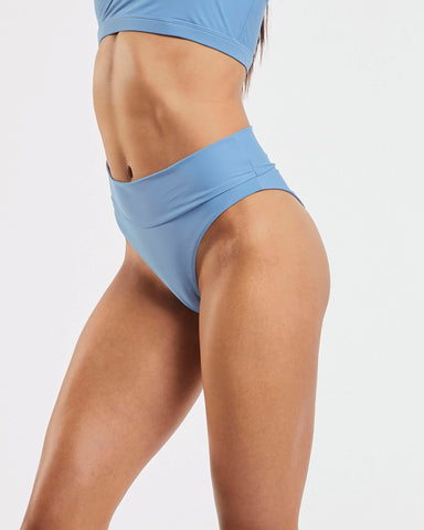 80s Banded Brazilian Brief in  Glacier-Blue