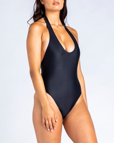 Soft Plunge One Piece Black