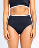 Sports High Waisted Brief - Black
