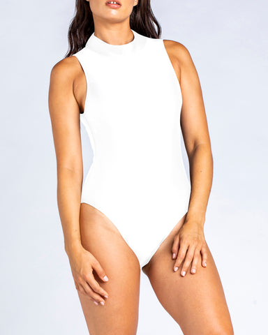 Racer with cut out back - White