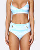 Cut out High Waisted Brief Bikini Bottom  - Tropical Punch