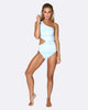 Cold Shoulder Asymmetrical One Piece - Tropical Punch