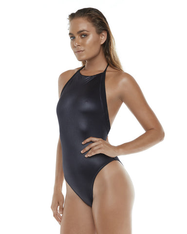 Low Back One Piece - Wetlook Black