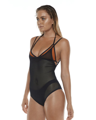 Revolver One Piece Black Mesh